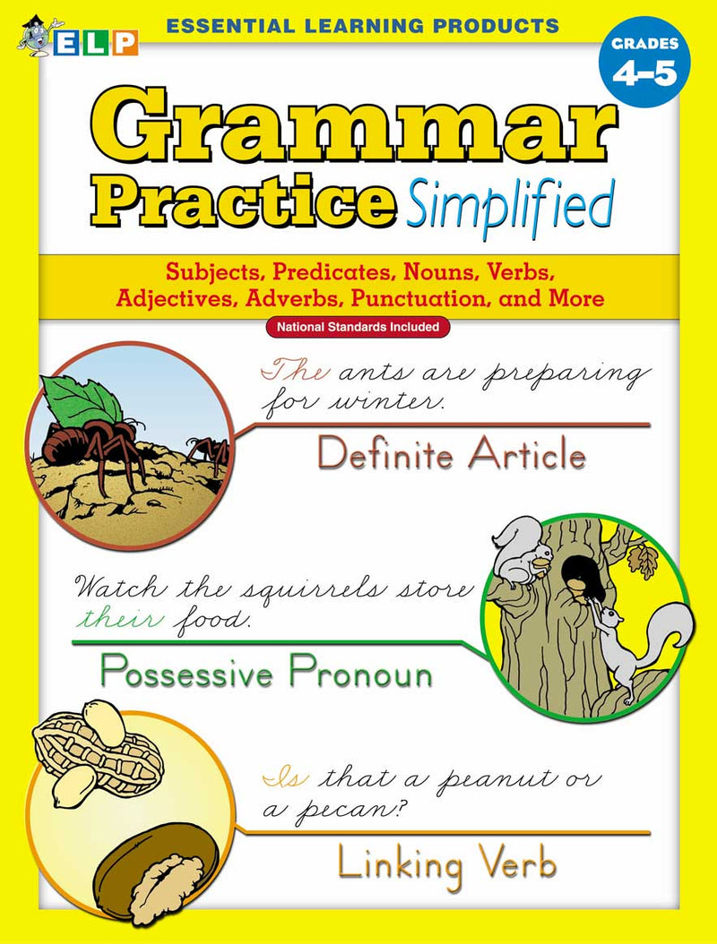 Grammar Practice Simplified: Guided Practice in Basic Skills (Book C, Grades 4-5)