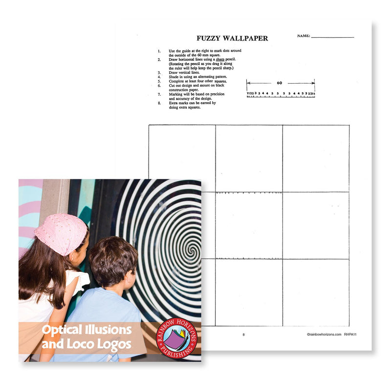 Optical Illusions and Loco Logos: Fuzzy Wallpaper - WORKSHEET
