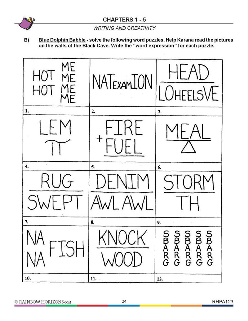 Island of the Blue Dolphins (Novel Study): Word Puzzles - WORKSHEET