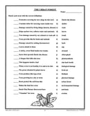 Canadian Trees & The Urban Forest: The Urban Forest Vocabulary Match - WORKSHEET