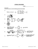 Animals: Classification & Adaptation: Animal Crackers Word Puzzles - WORKSHEET