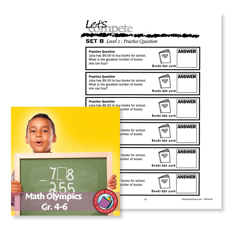 Math Olympics: Level 2 Practice Question Gr. 4-6 - WORKSHEET