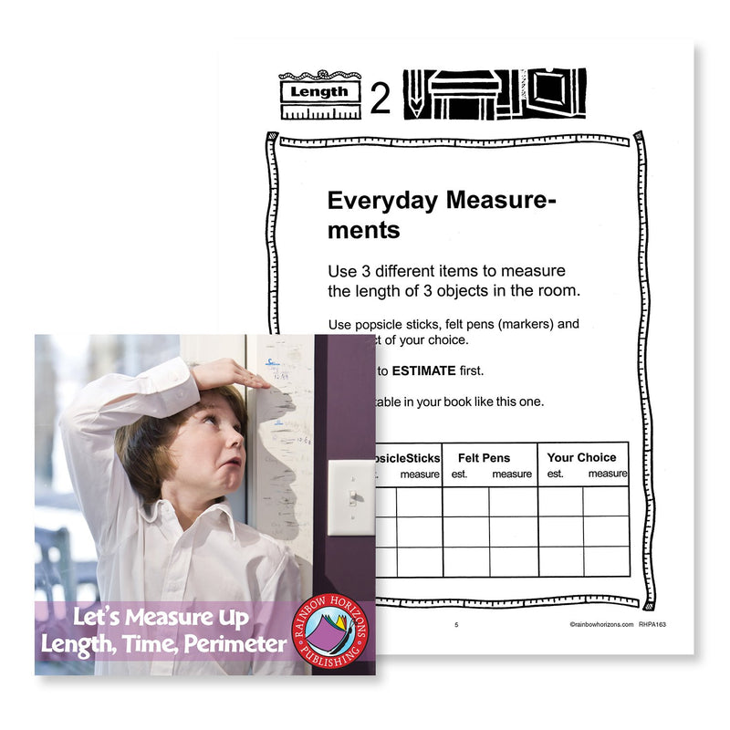 Let's Measure Up: Length, Time, Perimeter: Everyday Measurements - WORKSHEET