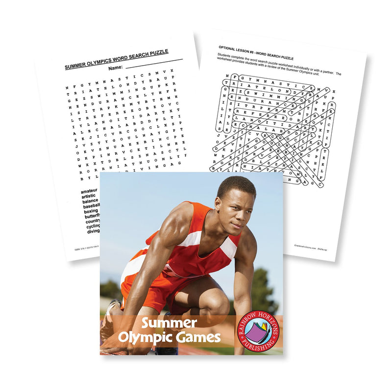 Summer Olympic Games: Word Search Gr. 4-6 - WORKSHEET