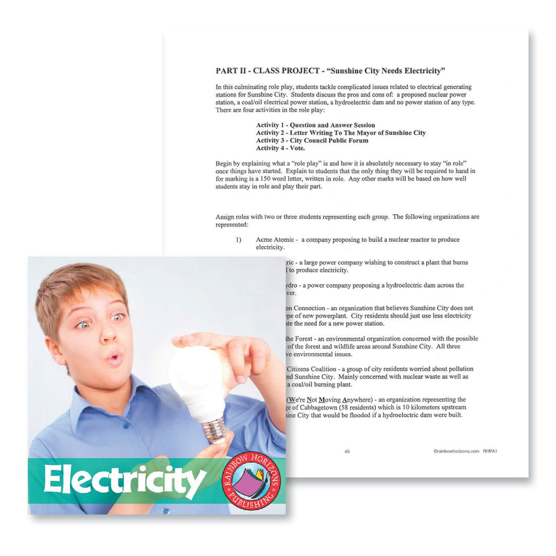 Electricity: Class Project Outline - WORKSHEET