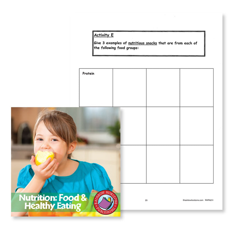 Nutrition: Food & Healthy Eating: Food Groups Chart Gr. 4-6 - WORKSHEET