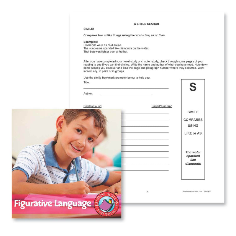 Figurative Language: A Simile Search - WORKSHEET