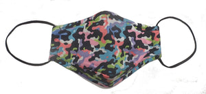 Bright Camo Mask w/filters - Kids (2 sizes)