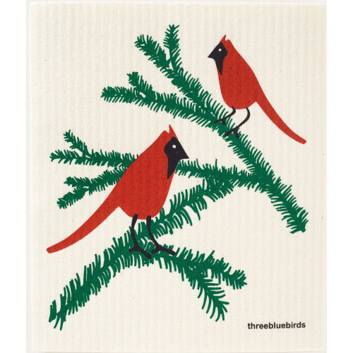 Cardinals Swedish Dishcloth