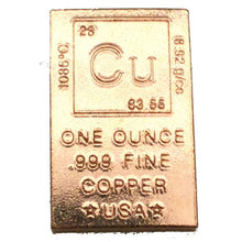 Load image into Gallery viewer, Copper Periodic Table Bar