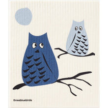 Load image into Gallery viewer, Blue Owls Swedish Dishcloth
