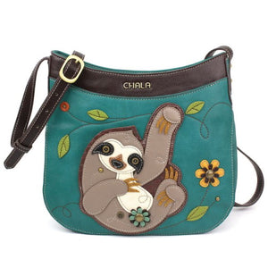 Sloth Crescent Crossbody Bag