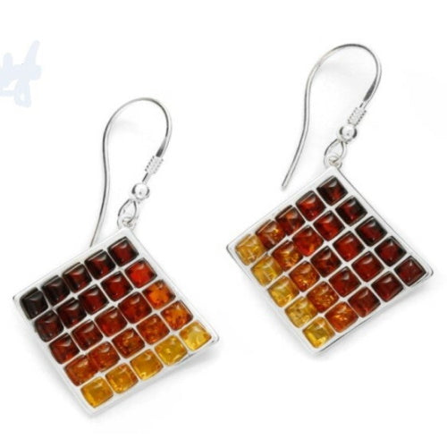 Amber Multi Square Earrings