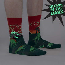 Load image into Gallery viewer, Dino Days Mens Crew Socks
