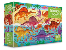 Load image into Gallery viewer, Dinosaurs Book and Puzzle (100 Pieces)