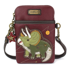 Load image into Gallery viewer, Triceratops Maroon Cell Crossbody Bag