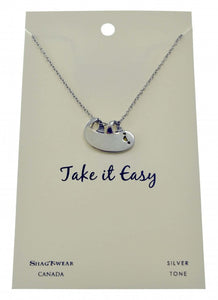Sloth Take It Easy Necklace