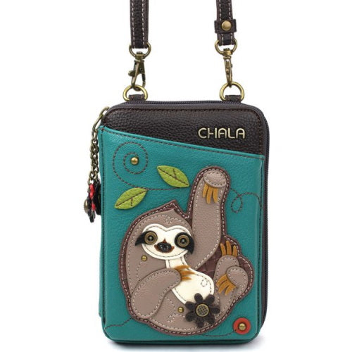 Sloth Wallet-Unzip Crossbody Bag