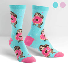 Load image into Gallery viewer, Snackin' Sloth Women's Crew Socks