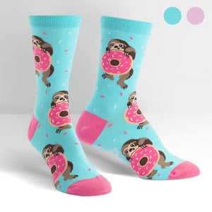 Snackin' Sloth Women's Crew Socks