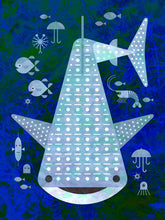 Load image into Gallery viewer, Whale Shark Print on Wood - Scott Partridge