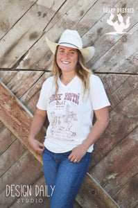 Lil' Red Roan Natural Horse Ropin' Tee