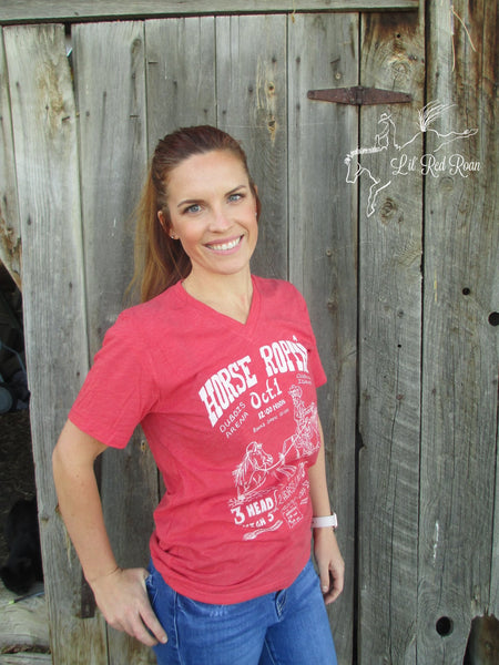 Horse Roping T-Shirt - Red