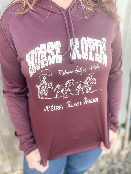 McGarry Ranch Arena Hooded Pullover - Light weight - Maroon