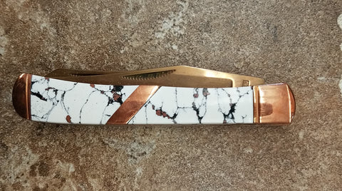 TRAPPER KNIVES-  Copperstone Trapper