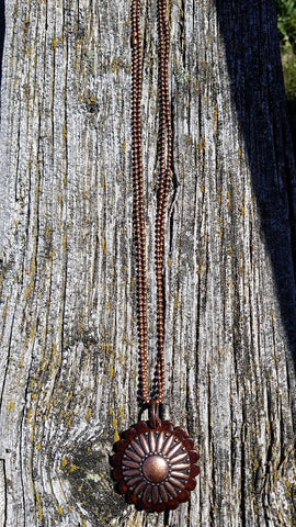 Copper Sunburst Necklace