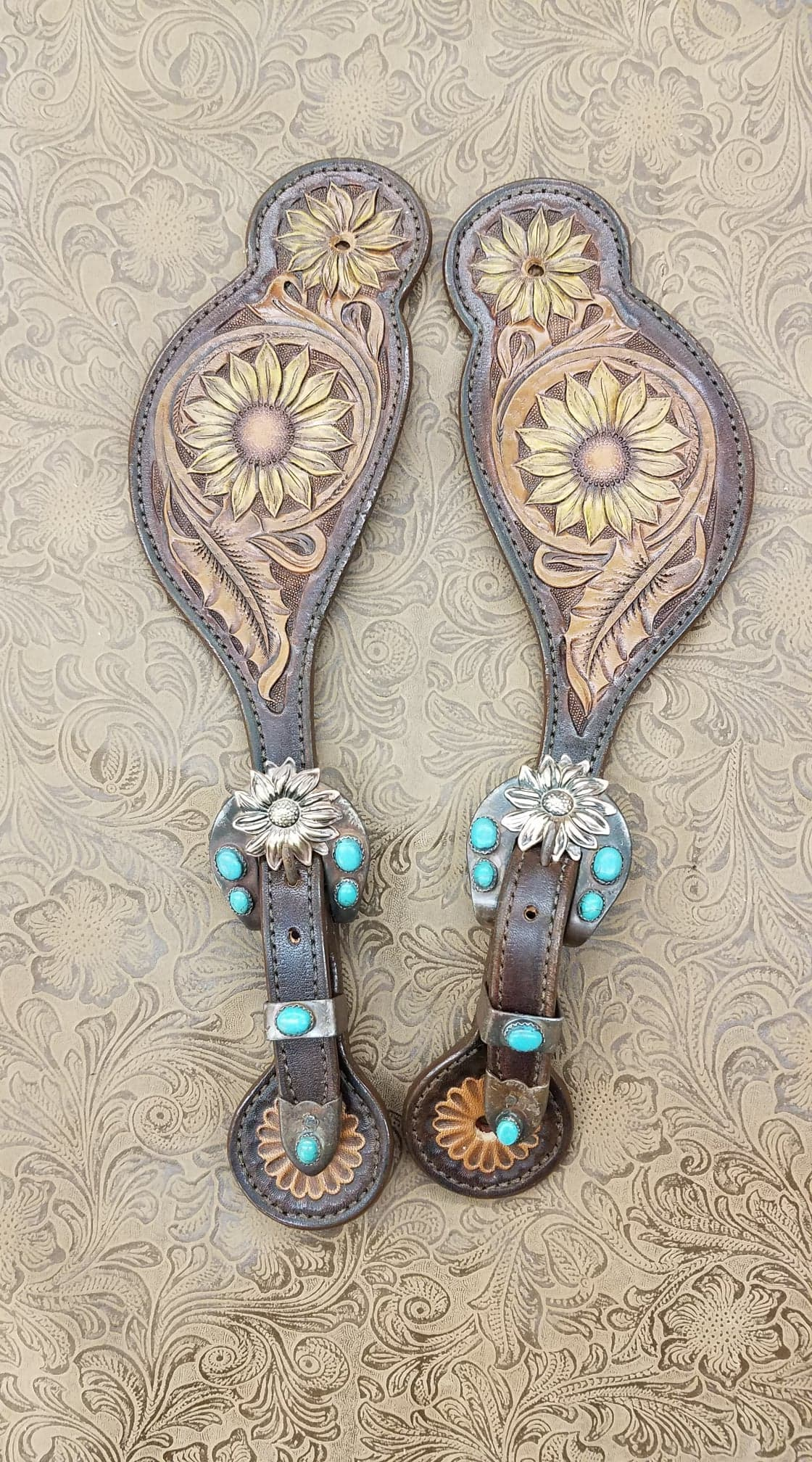 Yellow Sunflower Spur Straps