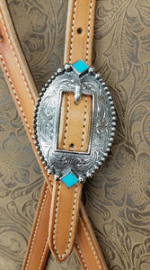 Turquoise Diamonds on the Oval