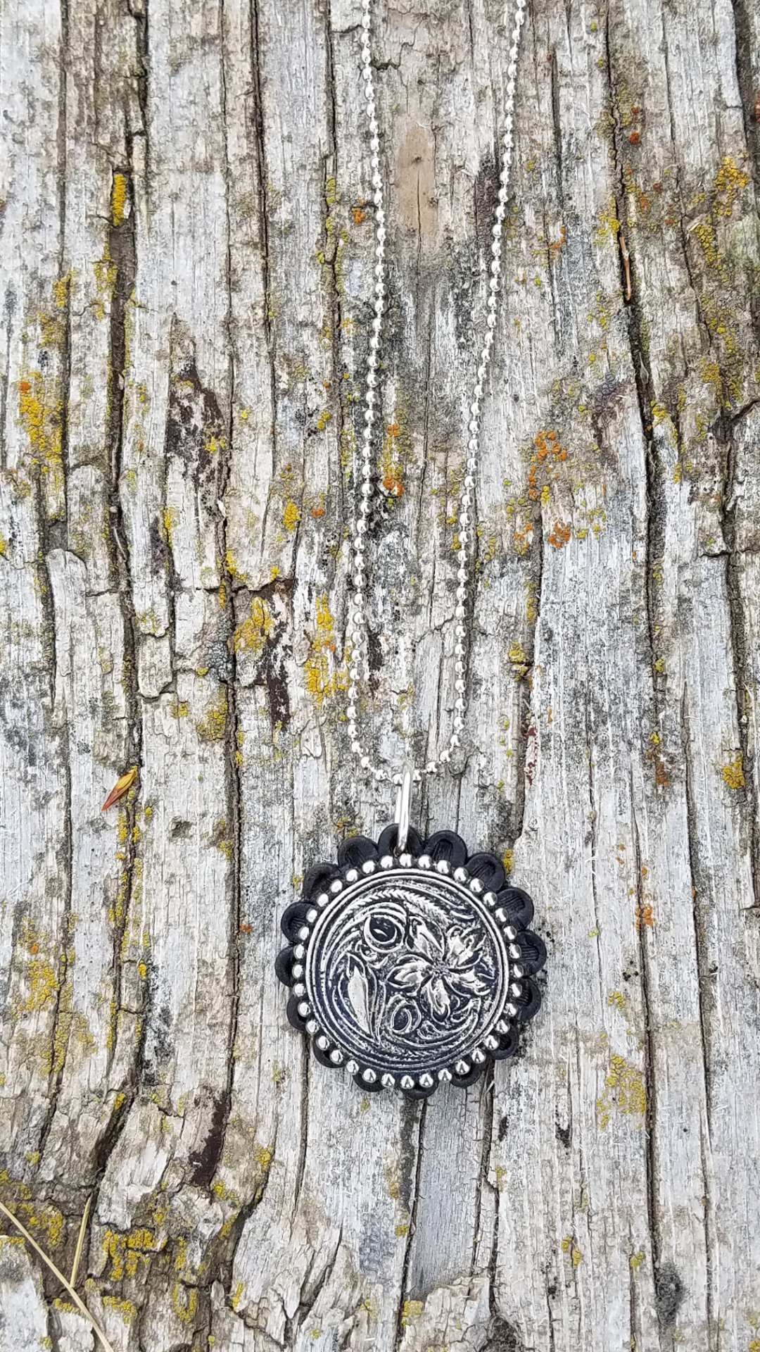 Floral Concho Necklace