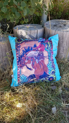 Turquoise Desert Dreams Pillow
