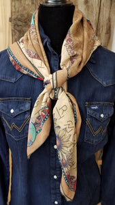 Saddle Leather and Trail Dust  Scarf