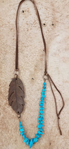The Red Wing Feather Necklace