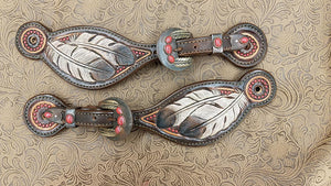 Eagle Feathers Spur Straps