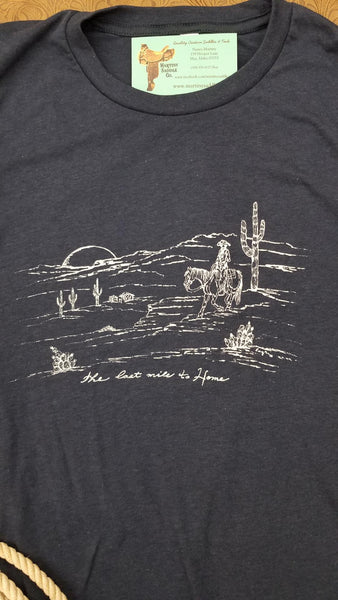 The Last Mile to Home tee in Blue