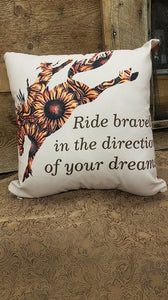 Ride Boldly  Pillow