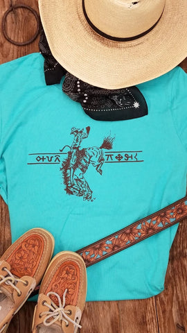 Turquoise Ridin' for the Brand