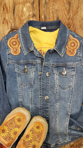 Yellow Sunflower Yoke Jacket