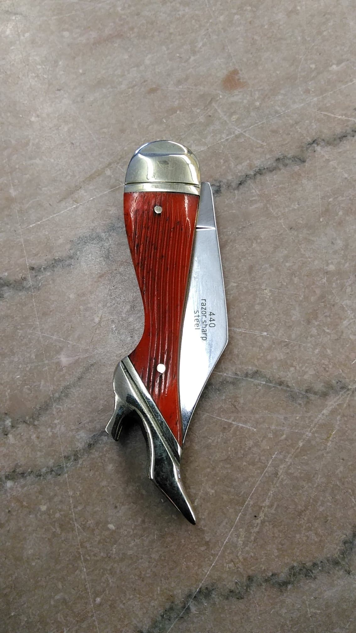 Strawberry Lady Leg Knife