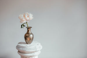 Gold porcelain vase