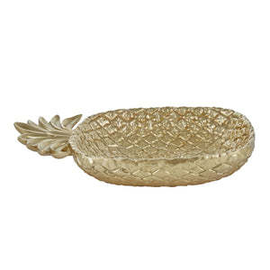Gold Resin Pineapple Plate - DARRA HOME