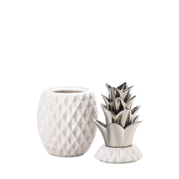 Silver Topped Pineapple Jar - DARRA HOME