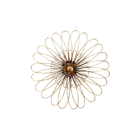 GOLD METAL DAISY WALL FLOWER WB 16""