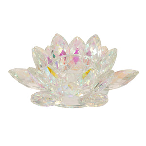 RAINBOW CRYSTAL LOTUS VOTIVE HOLDER 6""