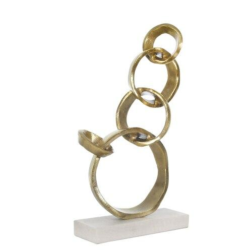 Gold Interlock Ring On Stand - Shop Decorative Objects - DARRA HOME