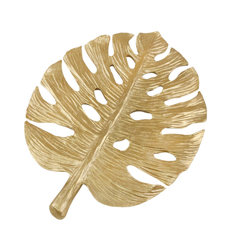 Gold Banana Leaf Wall Decor - Shop Decorative Objects - DARRA HOME