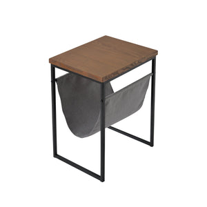 Metal & Wood Accent Table W/Magazine Rack - Shop Table - DARRA HOME